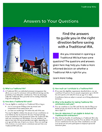 'Answers to Your Questions' thumbnail image of the cover of the brochure with an image of a lighthouse on it.