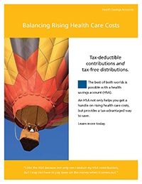 HSA: Balancing Rising Health Care Costs Brochure