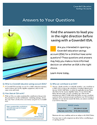 Answers to Your Questions about Coverdell ESA